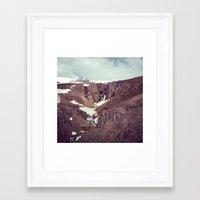 backyard waterfall Framed Art Print