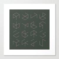 #38 Phantom Cubes – Ge… Canvas Print