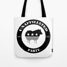 Unaffiliated Party Badge Tote Bag
