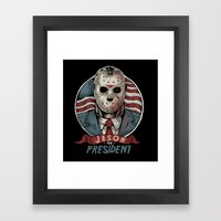 Jason For President Framed Art Print