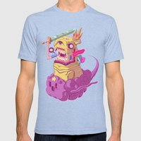 Finn and Jake Mens Fitted Tee Tri-Blue SMALL