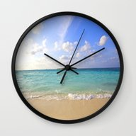 Wall Clock featuring Beach by 2sweet4words Designs