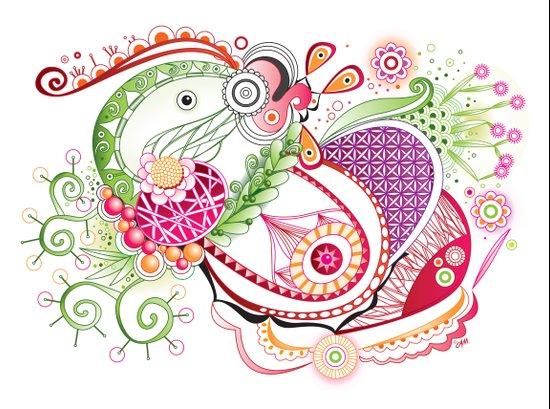 Spring tangle Art Print