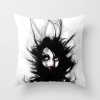 Coiling And Wrestling. D… Throw Pillow