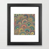 Millefiori Mandala Framed Art Print
