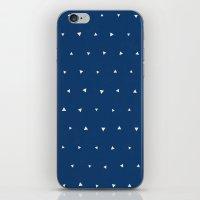 Geo Triangles Sea iPhone & iPod Skin