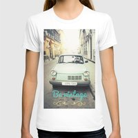 Be Vintage! Womens Fitted Tee White SMALL