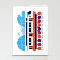 Postcards from Amsterdam / Train and Tulips Stationery Cards