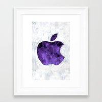 PURPLE Painted Apple Framed Art Print