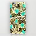 Tropical Wanderlust – Turquoise & Olive iPhone & iPod Skin