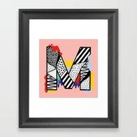 M for ... Framed Art Print