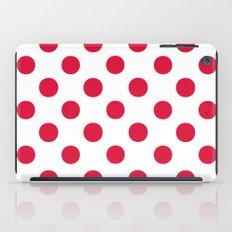 Polka Dots (Crimson/White) iPad Case
