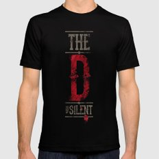 Django - The D is silent Mens Fitted Tee Black SMALL