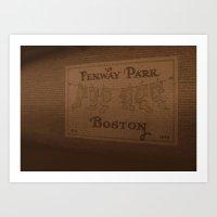 Fenway Park, 1912-1934 - Boston Red Sox Art Print