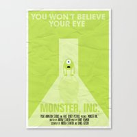 MONSTER INC. Canvas Print
