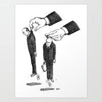 Hommes En Noir Par Lot D… Art Print