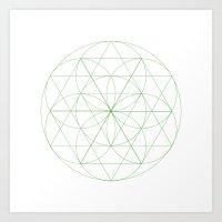 #129 Abloom – Geometry… Art Print
