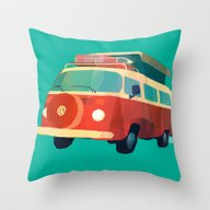 Kombi 3 Throw Pillow