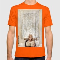 Morning Read Mens Fitted Tee Orange SMALL