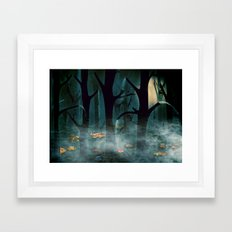 The Woods at Night Framed Art Print