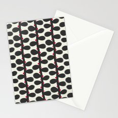 Like a Leaf [red spots] Stationery Cards