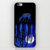 Deep Blue Forest iPhone & iPod Skin