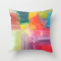Watercolor A. 01 Throw Pillow