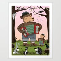 The Accordion Bears Art Print