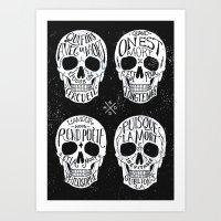 Skulls & Quotes Art Print
