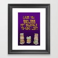 Endless to-read List Framed Art Print