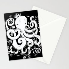 Royal Octopus - black Stationery Cards