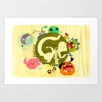 CARE - Love Our Earth Art Print