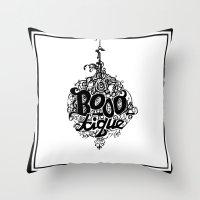 BOOO-tique! Throw Pillow