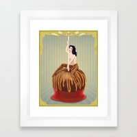 Candy Apple Girl Framed Art Print
