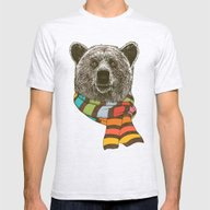 Winter Bear Mens Fitted Tee Ash Grey SMALL