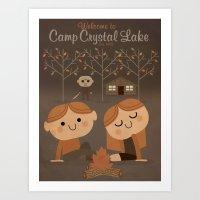 welcome to camp crystal lake Art Print