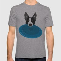 Border Collie - Disc Dog… Mens Fitted Tee Athletic Grey SMALL