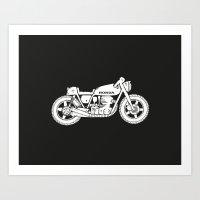Honda CB750 - Café Race… Art Print