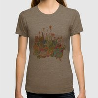 cactus garden Womens Fitted Tee Tri-Coffee SMALL