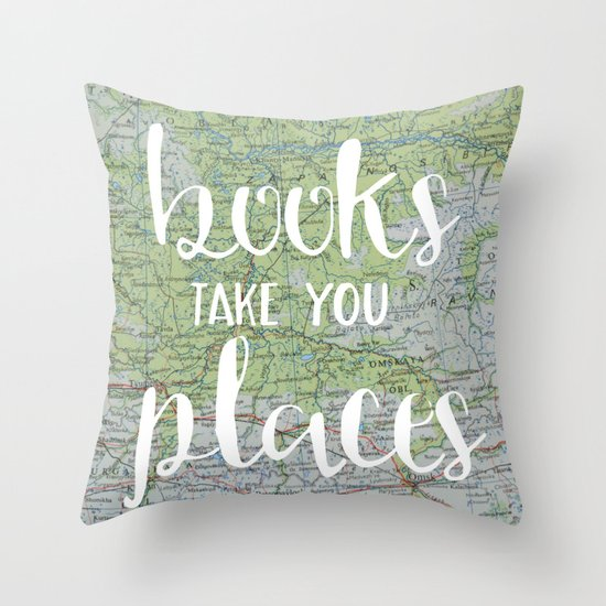 Books Take You Places | Bookish Throw Pillows