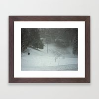 Dell Sledding Framed Art Print