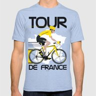 Tour De France Mens Fitted Tee Tri-Blue SMALL