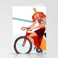Bicycle Tour de France Tandem for Three Stationery Cards