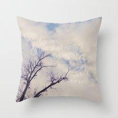 Aim at Heaven Throw Pillow