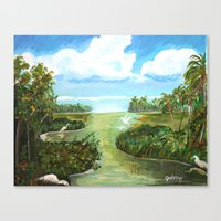 Marsh Birds Canvas Print