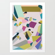 Art Print featuring Crystals by Leandro Pita