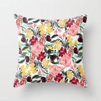 Wild Garden II Throw Pillow