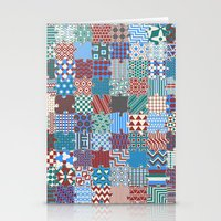 Pattern Patchwork Puzzle Stationery Cards