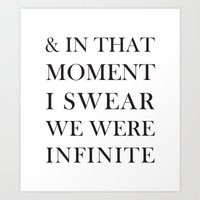 And In That Moment I Swe… Art Print