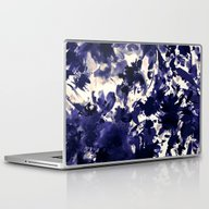Abstract Floral In Deep … Laptop & iPad Skin